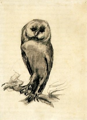 Vincent Van Gogh - Barn Owl Viewed from the Front