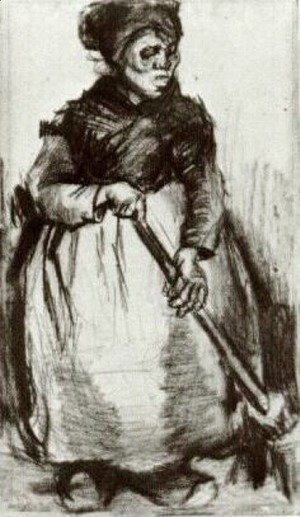 Vincent Van Gogh - Peasant Woman with Broom 2