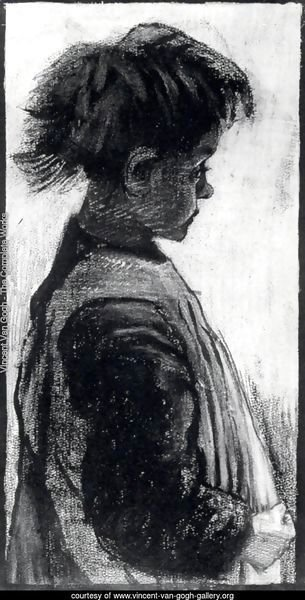 Girl with Pinafore, Half-Figure