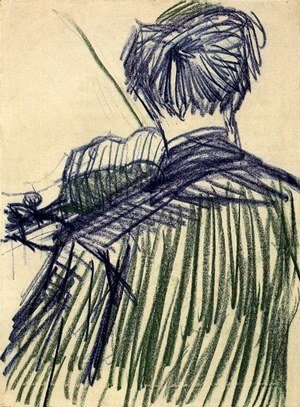 Vincent Van Gogh - Violinist Seen from the Back