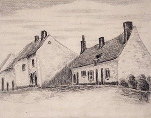 Vincent Van Gogh - A Zandmennik house