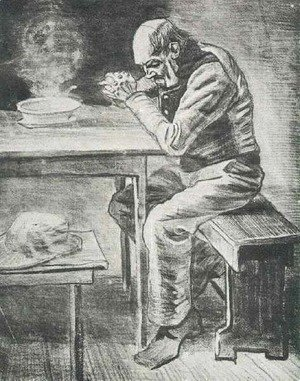 Vincent Van Gogh - Prayer Before the Meal