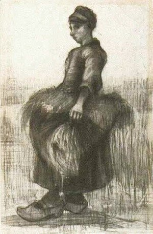 Vincent Van Gogh - Peasant Woman, Carrying Wheat in Her Apron