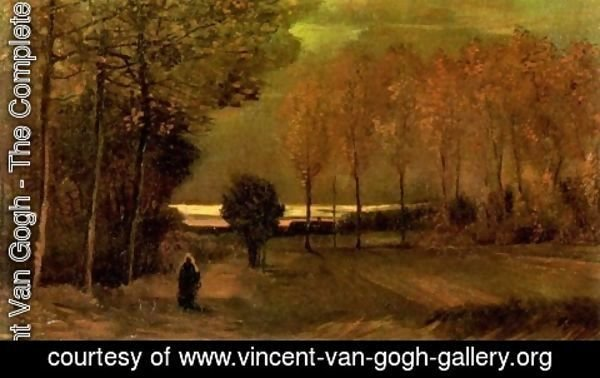 Vincent Van Gogh - Autumn Landscape At Dusk