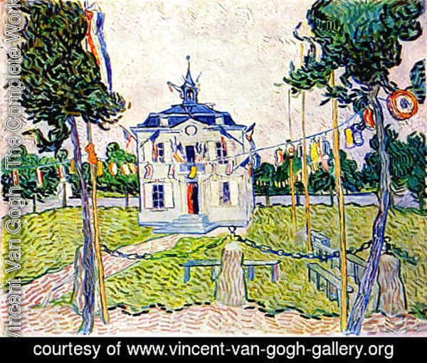 Vincent Van Gogh - Auvers Town Hall On July 14 1890