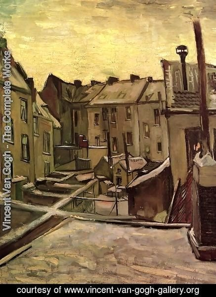 Vincent Van Gogh - Backyards Of Old Houses In Antwerp In The Snow