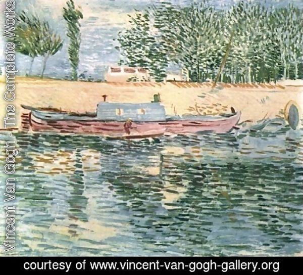 Vincent Van Gogh - The Banks Of The Seine With Boats