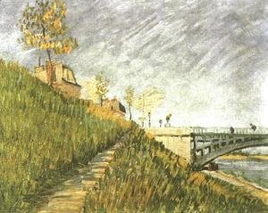 Vincent Van Gogh - Banks Of The Seine With Pont De Clichy
