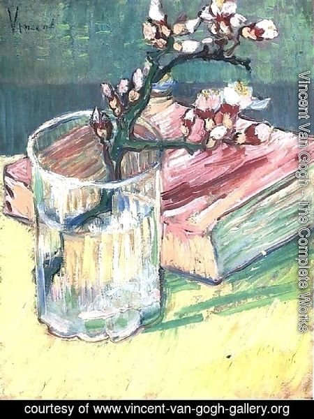 Vincent Van Gogh - Blossoming Almond Branch In A Glass With A