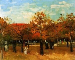 Vincent Van Gogh - The Bois De Boulogne With People Walking