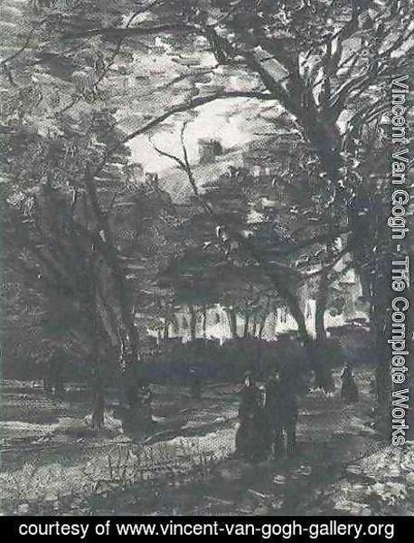 Vincent Van Gogh - Bois De Boulogne With People Walking The II