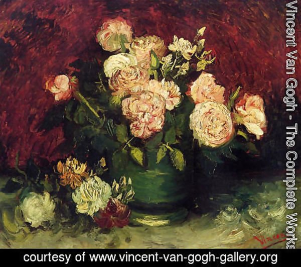 Vincent Van Gogh - Bowl With Peonies And Roses