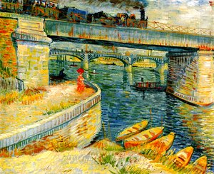 Vincent Van Gogh - Bridges Across The Seine At Asnieres