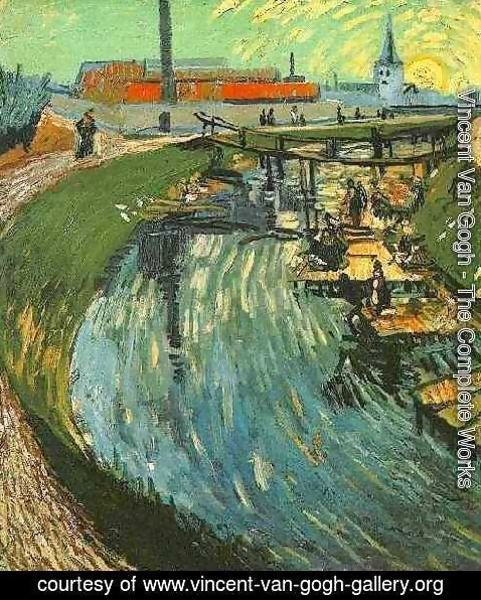 Vincent Van Gogh - Canal With Women Washing