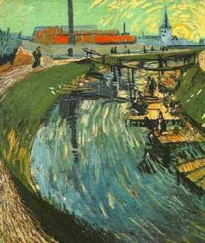 Canal With Women Washing