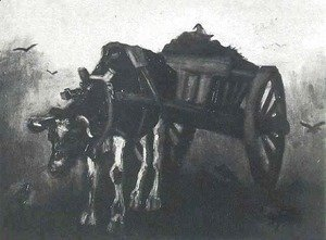 Vincent Van Gogh - Cart With Black Ox