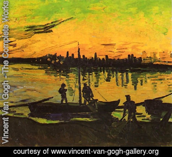 Vincent Van Gogh - Coal Barges II