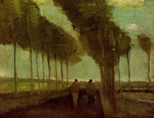Vincent Van Gogh - Country Lane With Two Figures