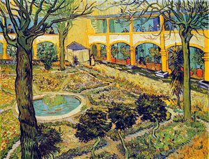 The Courtyard Of The Hospital At Arles