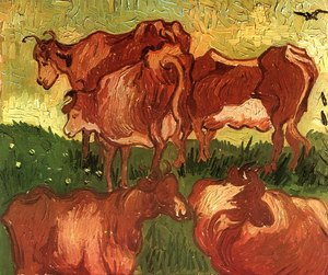 Vincent Van Gogh - Cows (after Jordaens)