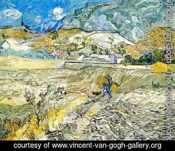 Vincent Van Gogh - Enclosed Wheat Field With Peasant