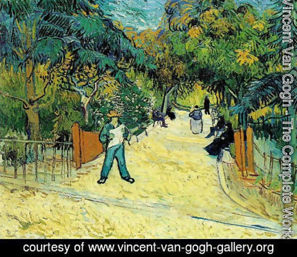 Vincent Van Gogh - Entrance To The Public Park In Arles