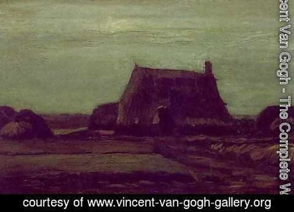 Vincent Van Gogh - Farm With Stacks Of Peat