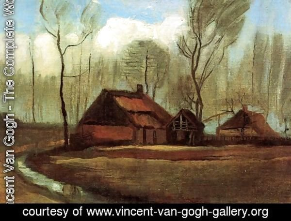 Vincent Van Gogh - Farmhouses Among Trees