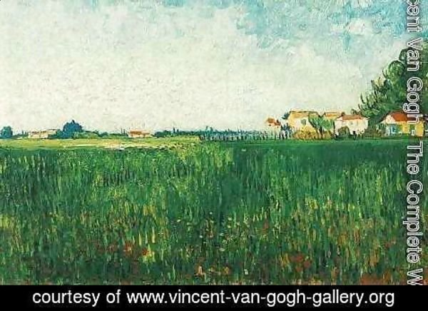 Vincent Van Gogh - Farmhouses In A Wheat Field Near Arles
