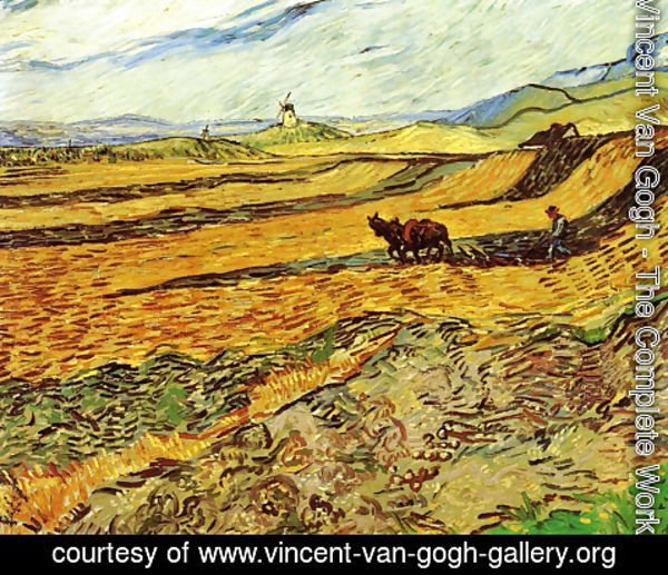 Vincent Van Gogh - Field With Ploughman And Mill