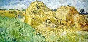 Vincent Van Gogh - Field With Wheat Stacks