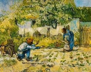 Vincent Van Gogh - First Steps (after Millet)