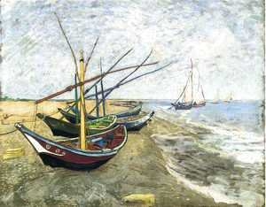Vincent Van Gogh - Fishing Boats On The Beach At Saintes Maries