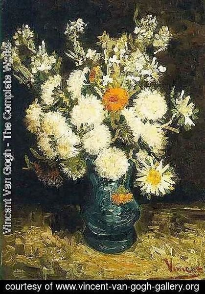 Vincent Van Gogh & Vincent Van Gogh - The Complete Works - Flowers In A Blue ...