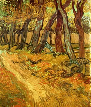 Vincent Van Gogh - The Garden Of Saint Paul Hospital With Figure