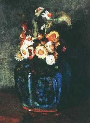 Vincent Van Gogh - Ginger Jar Filled With Chrysanthemums