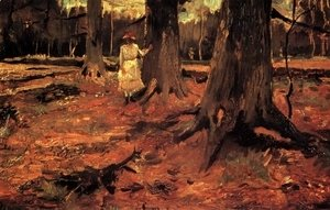 Vincent Van Gogh - Girl In White In The Woods