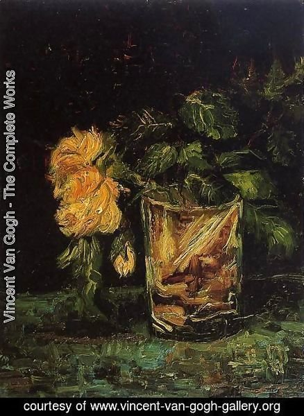 Vincent Van Gogh - Glass With Roses