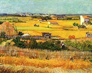 Vincent Van Gogh - Harvest At La Crau With Montmajour In The Background