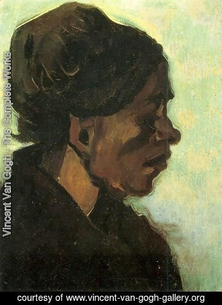 Vincent Van Gogh - Head Of A Brabant Peasant Woman With Dark Cap