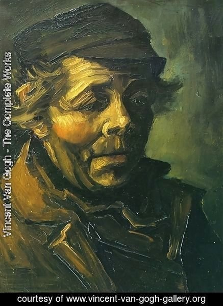 Vincent Van Gogh - Head Of A Peasant With Cap