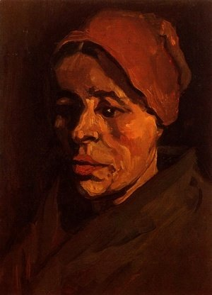 Vincent Van Gogh - Head Of A Peasant Woman With Brownish Cap