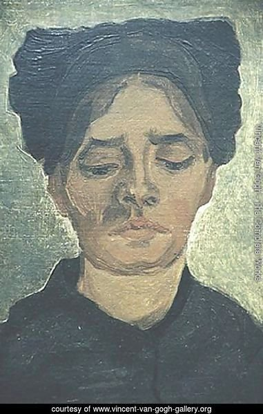 Head Of A Peasant Woman With Dark Cap I