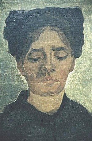 Vincent Van Gogh - Head Of A Peasant Woman With Dark Cap I