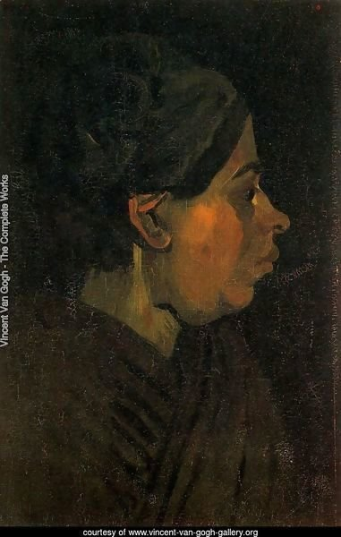 Head Of A Peasant Woman With Dark Cap II