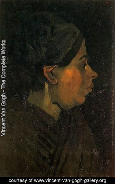 Vincent Van Gogh - Head Of A Peasant Woman With Dark Cap II