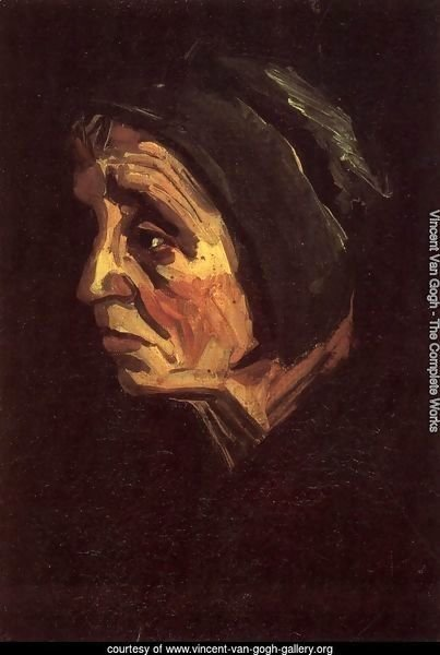 Head Of A Peasant Woman With Dark Cap IV