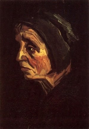 Vincent Van Gogh - Head Of A Peasant Woman With Dark Cap IV