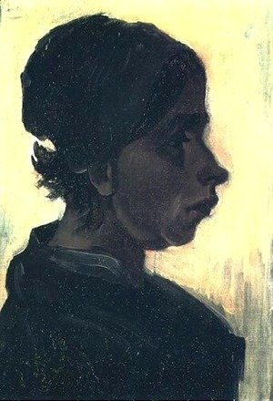 Vincent Van Gogh - Head Of A Peasant Woman With Dark Cap V