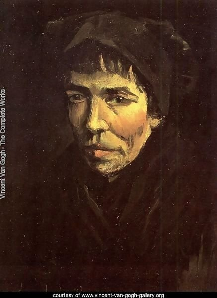Head Of A Peasant Woman With Dark Cap VI